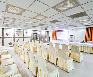 Inside Conference Hall of the Raghu Mahal Hotel