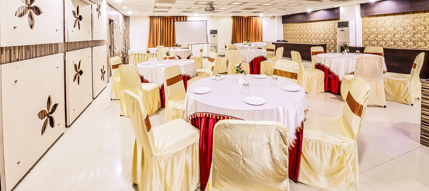 conference hall at Hotel Raghu Mahal